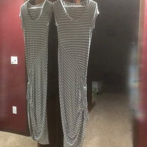 Athleta long dress with draw string on side